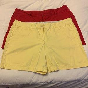 "2 pair LOFT shorts with 4"" inseam"